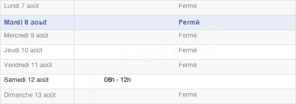 horaires d'ouverture de la Mairie De Montferrat