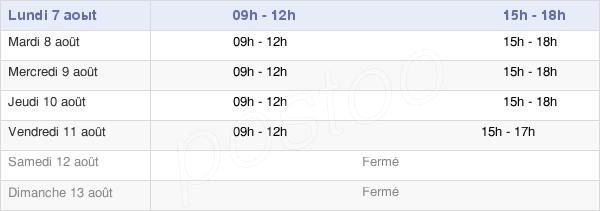 horaires d'ouverture de la Mairie De Bagnols-En-Forêt
