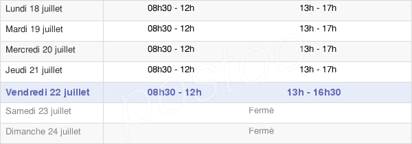 horaires d'ouverture de la Mairie De Pierrefeu Du Var