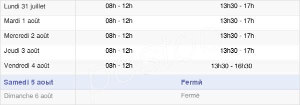 horaires d'ouverture de la Mairie De Saint-Raphaël