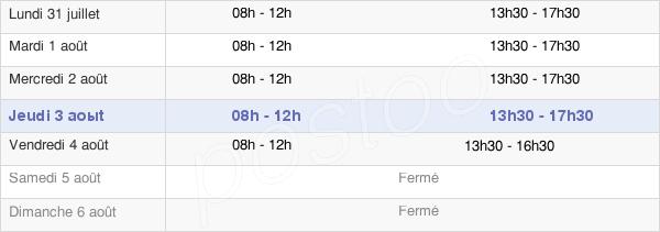 horaires d'ouverture de la Mairie De Besse-Sur-Issole