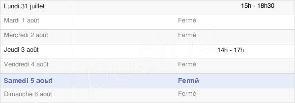 horaires d'ouverture de la Mairie De Quesnoy-Sur-Airaines
