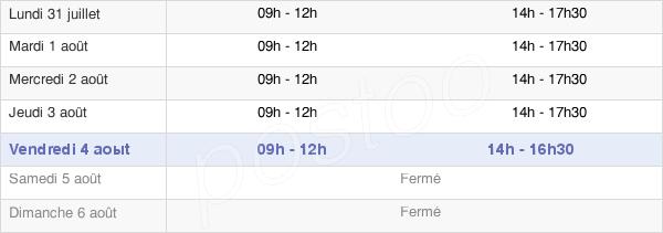 horaires d'ouverture de la Mairie De Taradeau