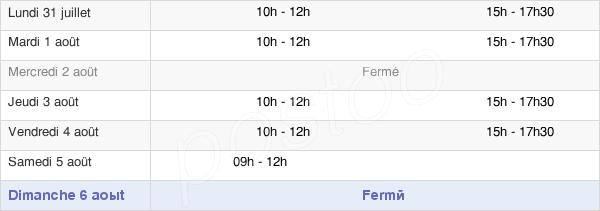 horaires d'ouverture de la Mairie De Brue-Auriac