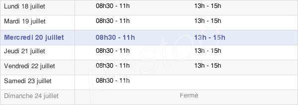 horaires d'ouverture de la Mairie De Méounes-Lès-Montrieux