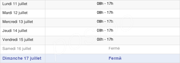 horaires d'ouverture de la Mairie De Flayosc