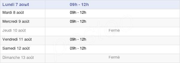 horaires d'ouverture de la Mairie De Mons
