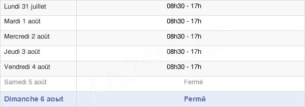 horaires d'ouverture de la Mairie De Fréjus