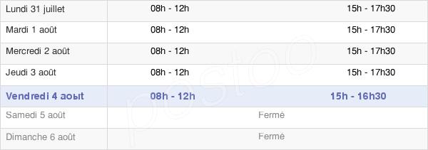 horaires d'ouverture de la Mairie De Puget Ville
