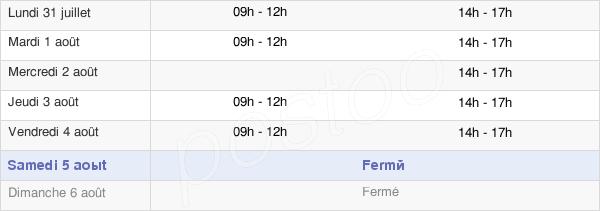 horaires d'ouverture de la Mairie De Vérignon