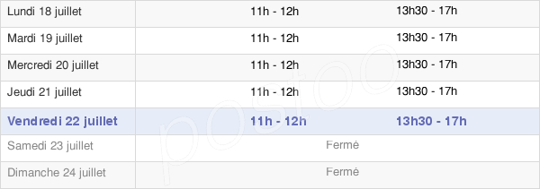 horaires d'ouverture de la Mairie De Vins-Sur-Caramy