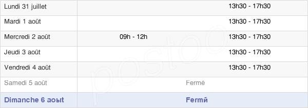 horaires d'ouverture de la Mairie De Pourcieux