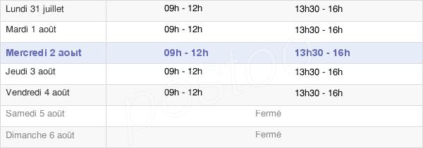 horaires d'ouverture de la Mairie D'Avèze