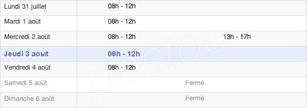 horaires d'ouverture de la Mairie Du Crest