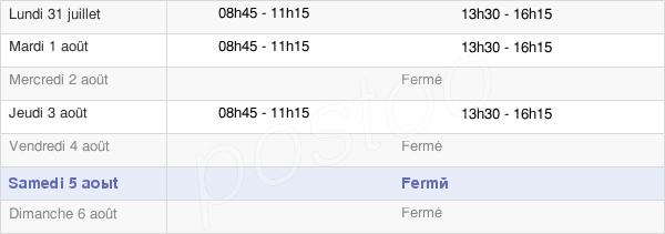 horaires d'ouverture de la Mairie De Saint-Sulpice