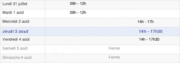 horaires d'ouverture de la Mairie De Saint-Julien-Puy-Lavèze