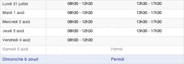 horaires d'ouverture de la Mairie Du Mont-Dore