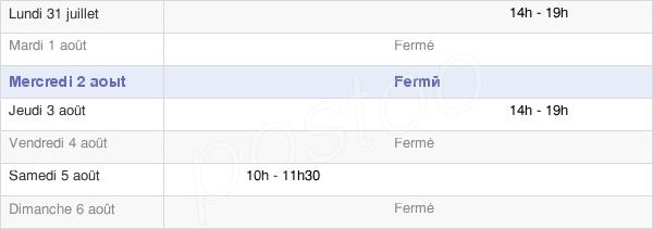 horaires d'ouverture de la Mairie De Quesnoy-Le-Montant