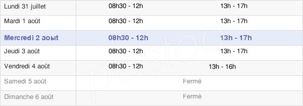 horaires d'ouverture de la Mairie De Gerzat