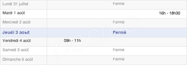 horaires d'ouverture de la Mairie De Hem-Monacu