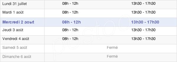 horaires d'ouverture de la Mairie De La Bourboule