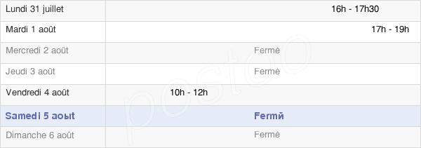 horaires d'ouverture de la Mairie De Ludesse