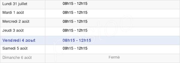 horaires d'ouverture de la Mairie De La Tour-D'Auvergne