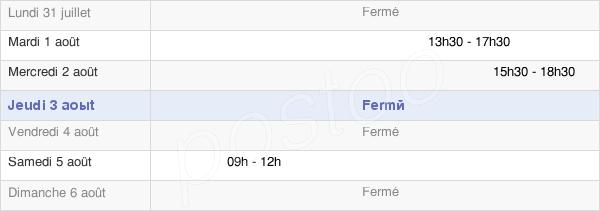 horaires d'ouverture de la Mairie De Saint-Laure