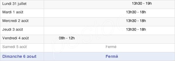 horaires d'ouverture de la Mairie De Moyenneville