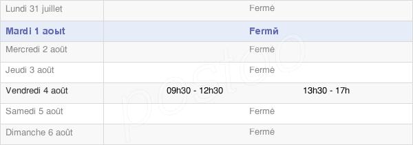horaires d'ouverture de la Mairie D'Esteil