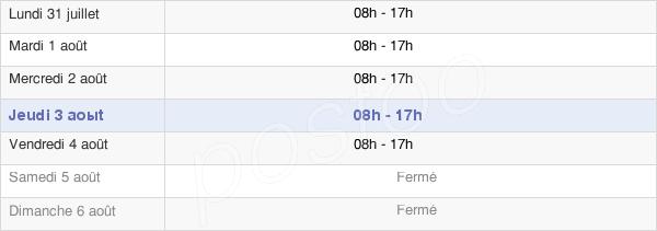 horaires d'ouverture de la Mairie D'Aubière