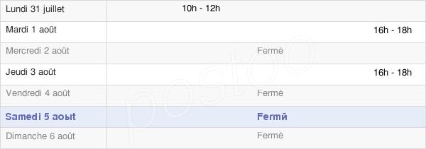 horaires d'ouverture de la Mairie De Fienvillers