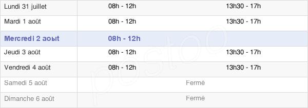 horaires d'ouverture de la Mairie De Durtol