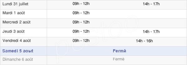 horaires d'ouverture de la Mairie De Jumeaux