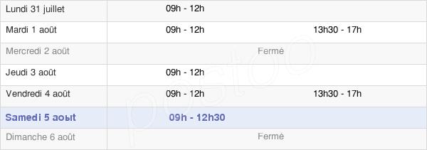 horaires d'ouverture de la Mairie De Saint-Genès-Champespe