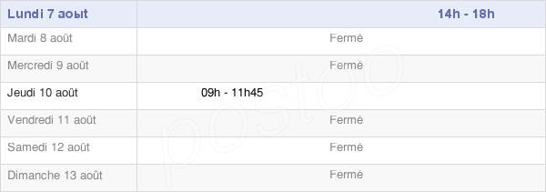 horaires d'ouverture de la Mairie De Saint-Martin-Des-Plains