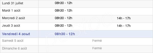 horaires d'ouverture de la Mairie De Saint-Germain-L'Herm