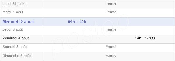 horaires d'ouverture de la Mairie D'Espinchal