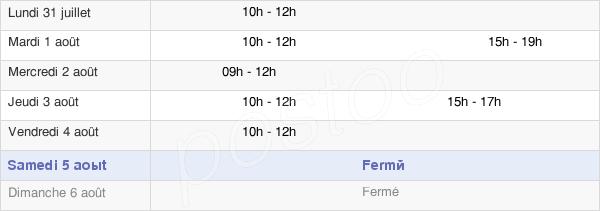 horaires d'ouverture de la Mairie De Tallende