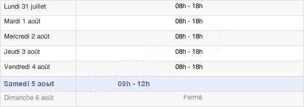 horaires d'ouverture de la Mairie De Chamalières