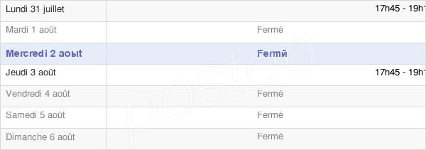 horaires d'ouverture de la Mairie De Bettencourt-Saint-Ouen