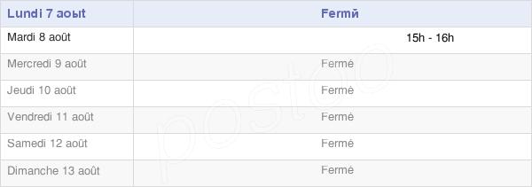 horaires d'ouverture de la Mairie De Fossé