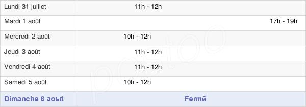 horaires d'ouverture de la Mairie De Launois-Sur-Vence
