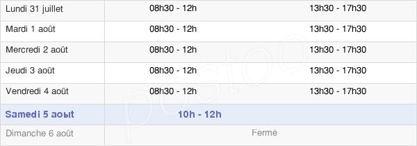 horaires d'ouverture de la Mairie De Carignan