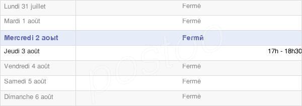horaires d'ouverture de la Mairie De Saint-Clément-À-Arnes