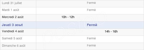 horaires d'ouverture de la Mairie De Sery