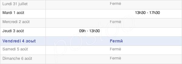 horaires d'ouverture de la Mairie De Seuil