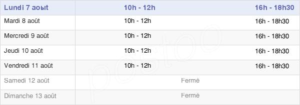 horaires d'ouverture de la Mairie De La Francheville