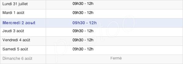 horaires d'ouverture de la Mairie Du Chesne