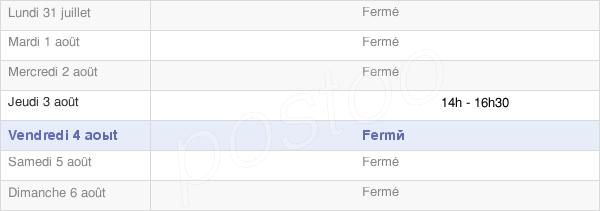 horaires d'ouverture de la Mairie De Semuy